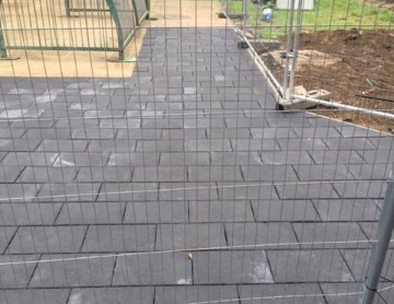 Block paving fully laid