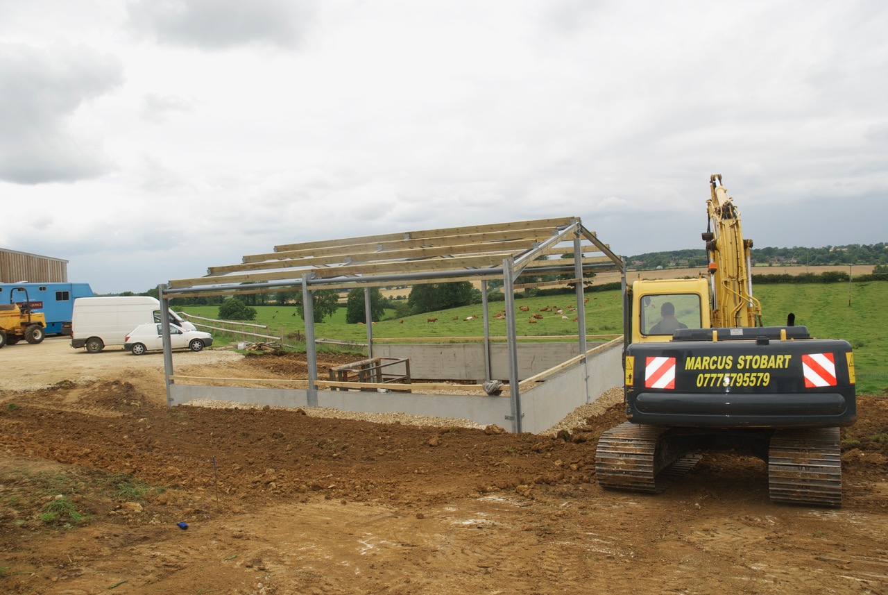 Cattle shed construction starting